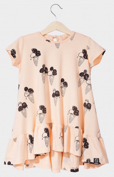 Kukukid DRESS/SHORTSLEEVE Peach Ice-cream