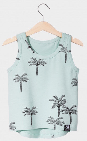 Kukukid TANK-TOP Aquamarine Palms