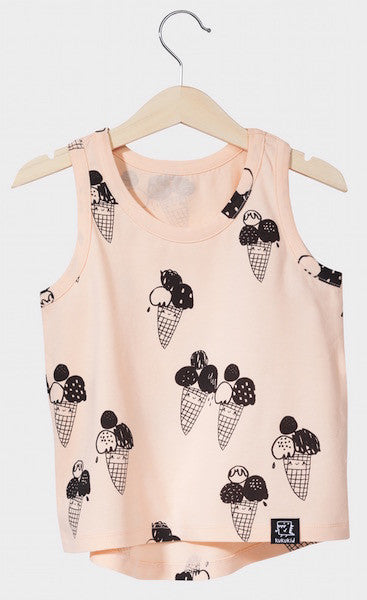 Kukukid TANK-TOP Peach Ice-cream