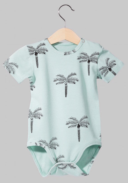 [SALE]Kukukid BODYSUIT Aquamarine Palms