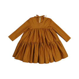 Kukukid Wave Dress Mustard
