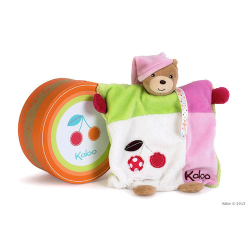 Kaloo Colours Doudou Bear Puppet Girl - Cherry