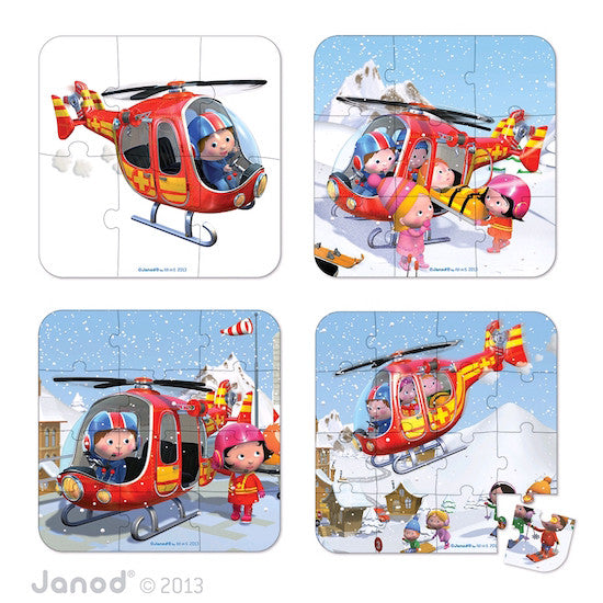 Janod Peters Helicapter Puzzle