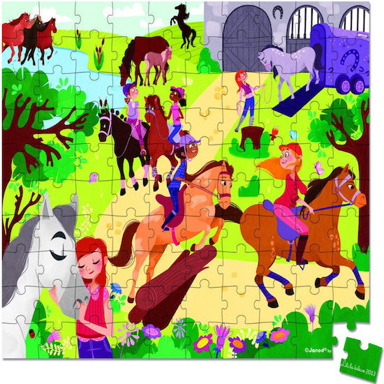 Janod Horse Riding Puzzle