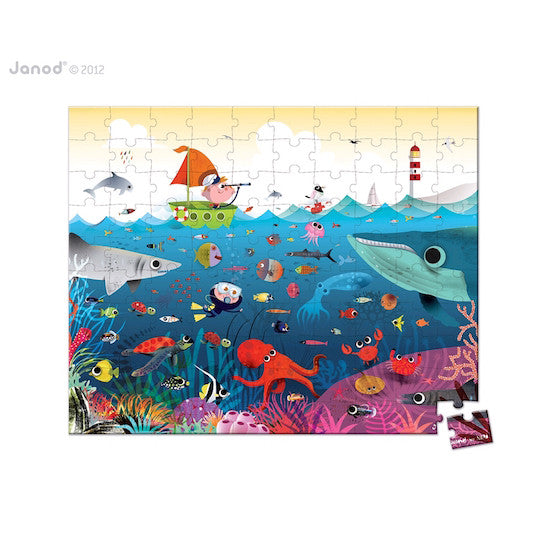 Janod Square Suitcase Underwater World 100pcs Puzzle