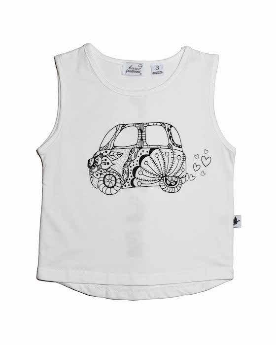 Radicool Kids Cali Dreamin' Tank In White