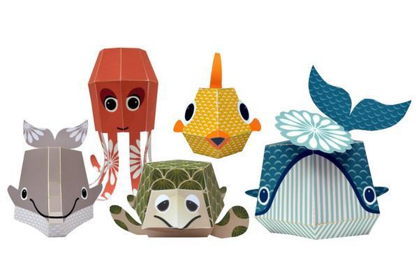 Mibo Paper Animals - The Marine Team