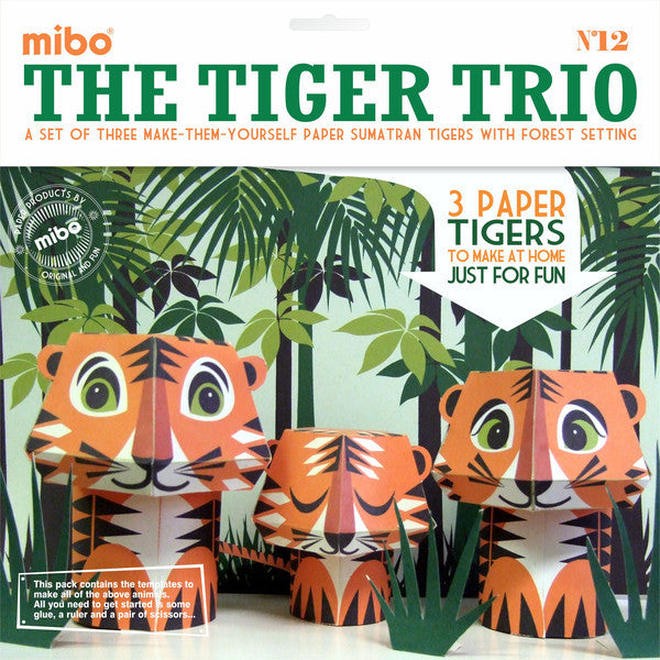 Mibo Paper Animals - Tiger Trio