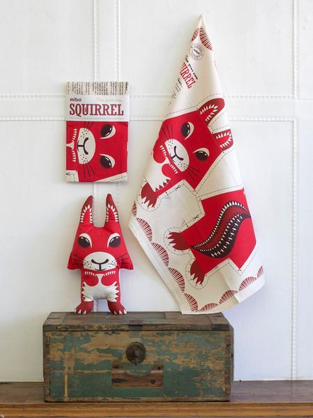 Mibo Tea Towel - Squirrel