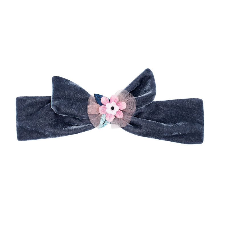 Billy Loves Audrey Magic Flower Velvet Tie Headband