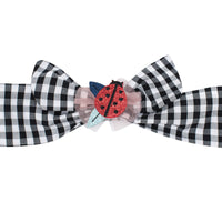 Billy Loves Audrey Ladybug Gingham Tie Headband