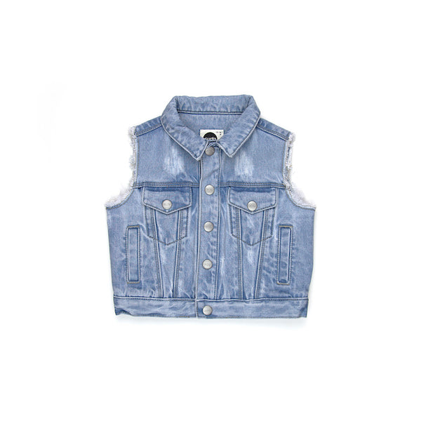 Sudo Mini Bodhi Denim Vest - Coast Blue