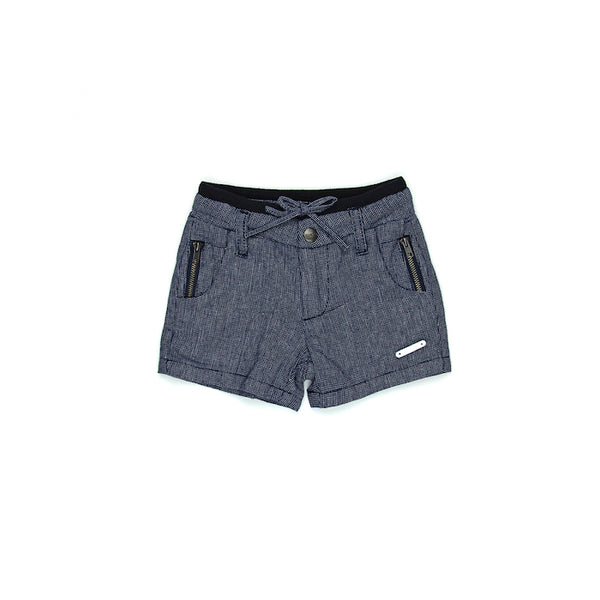 Sudo Mini Oscar Linen Shorts - Oxford Blue