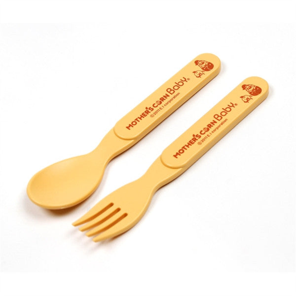 Mother's Corn Step up spoon & fork set