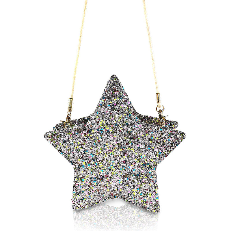Milk & Soda Glitter Star Bag Silver