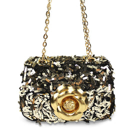 Milk & Soda Ava Sequins Flower Bag Gold