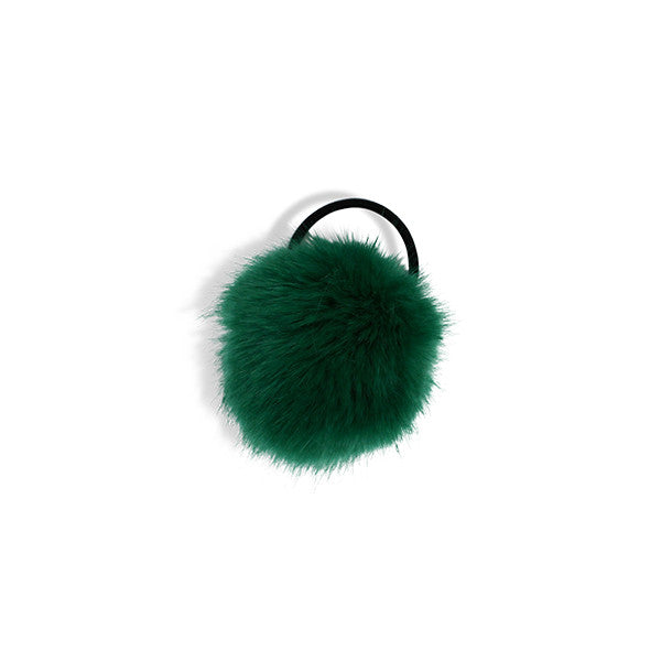 Milk & Soda EMILE FUR HAIR ELASTIC EMERALD GREEN