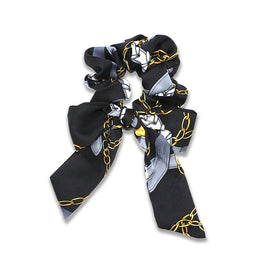 Milk & Soda Scarf Scrunchie Black