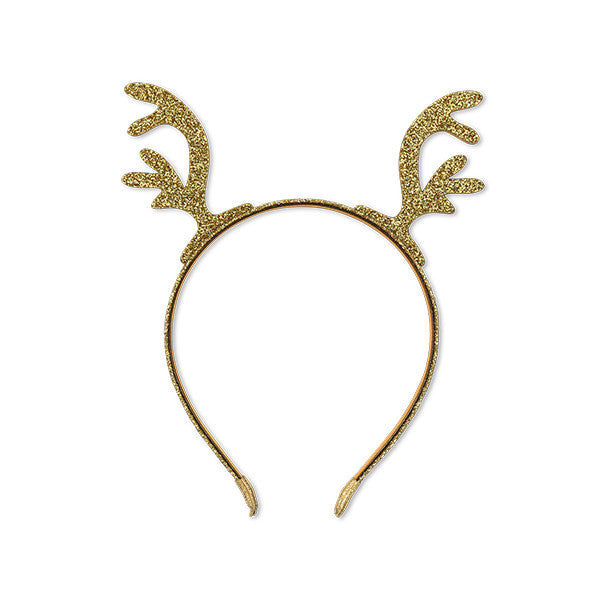 Milk & Soda GLITTER REINDEER HEADBAND GOLD