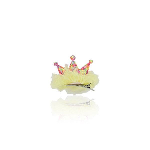 Milk & Soda Lil Princess Hair Clip Ballet Pink/Yellow