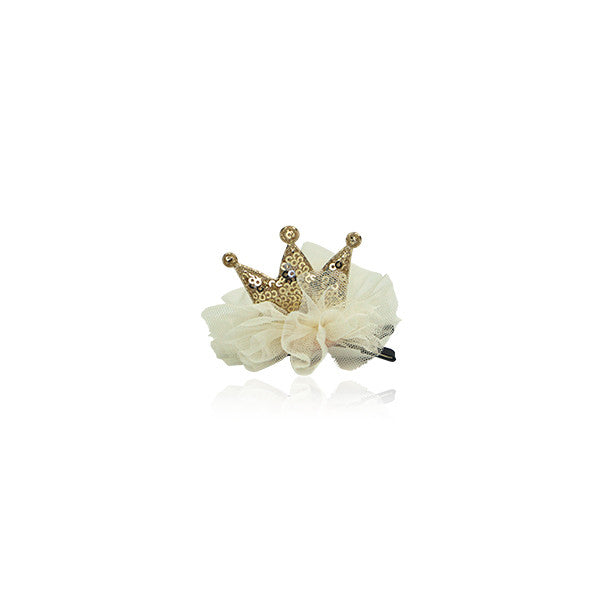 Milk & Soda Lil Princess Hair Clip Ivory