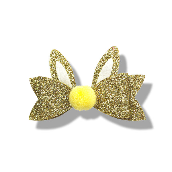 Milk& Soda GLITTER BUNNY DUCK CLIP (GOLD)