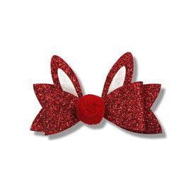 Milk& Soda GLITTER BUNNY DUCK CLIP (RED)