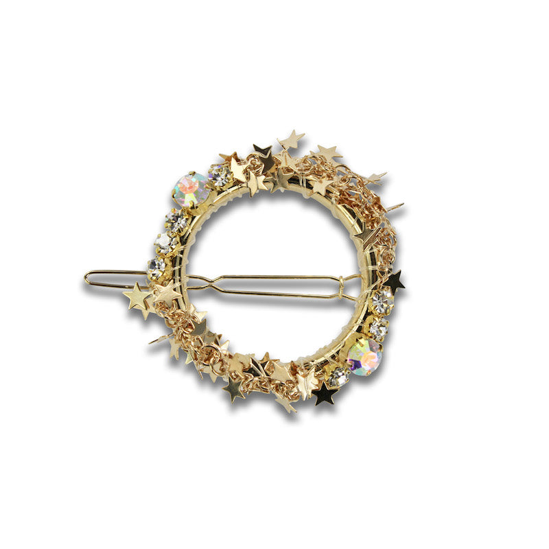 Milk & Soda Wreath Hair Clip-Gold