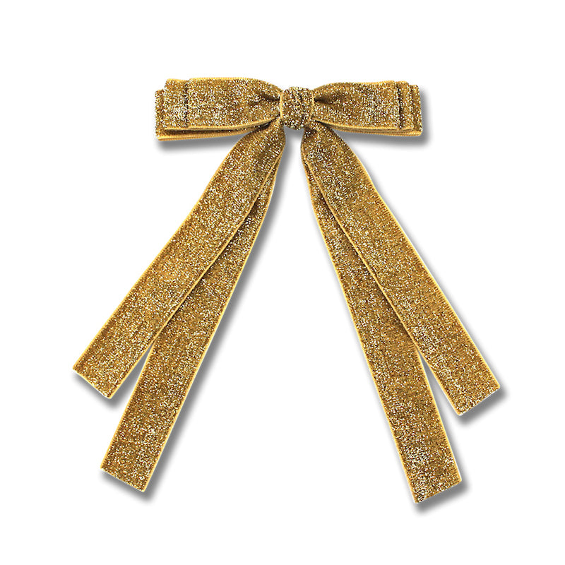 Milk & Soda Ribbon Hair Clip-Gold