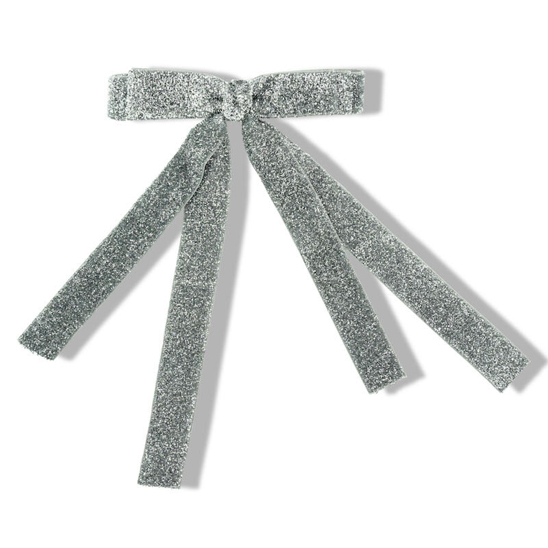 Milk & Soda Ribbon Hair Clip-Silver