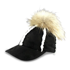 Milk & Soda Faux Shearling Cap Black
