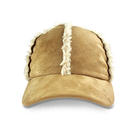 Milk & Soda Faux Shearling Cap Camel