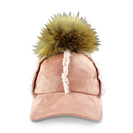 Milk & Soda Faux Shearling Cap Pink