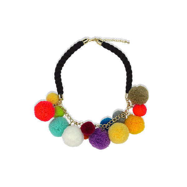 Milk & Soda POMPOM NECKLACE MULTI
