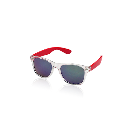 Milk & Soda Zayn Sunglasses Clear/Red