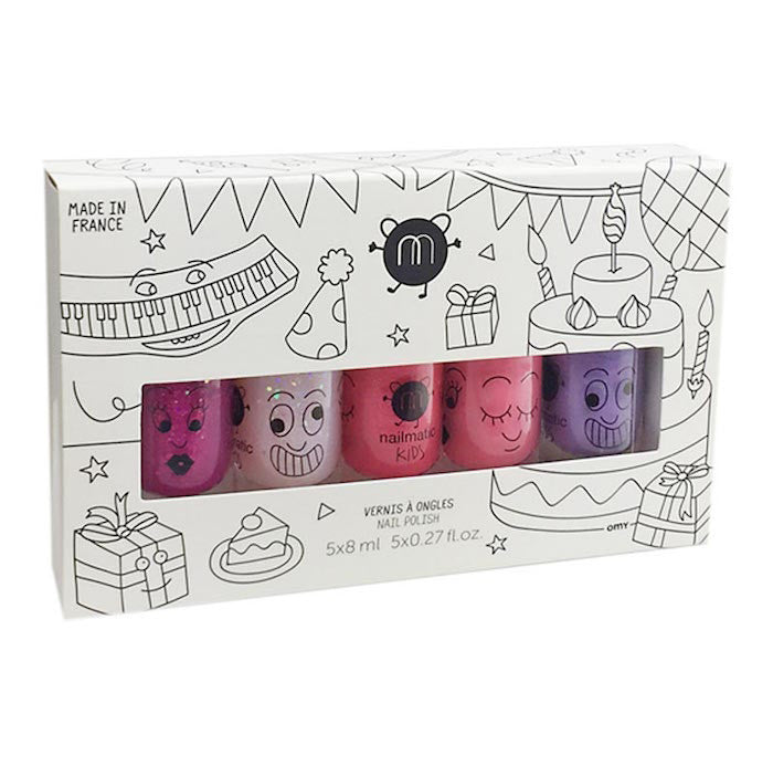 Nailmatic Kids Nail Polish Pack Party (5 pack)