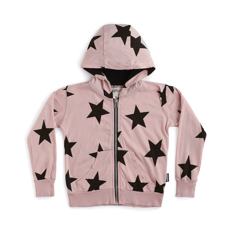 NUNUNU Star Light Zip Hoodie Powder Pink
