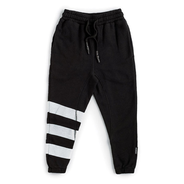 NUNUNU Triple Stripe Sweatpants Black