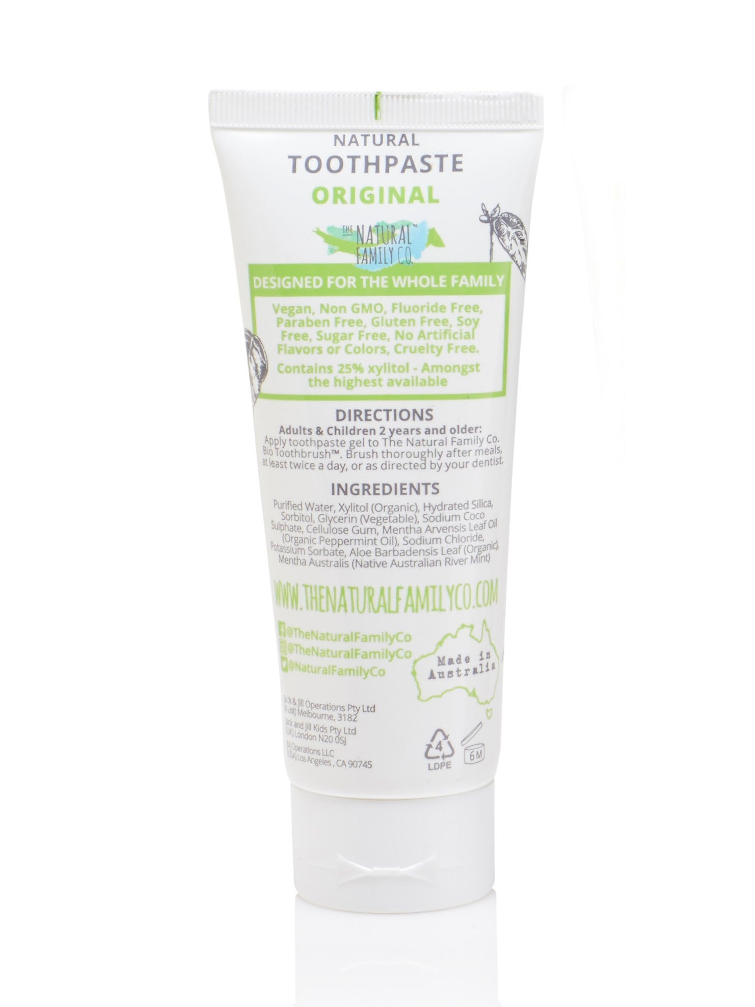The Natural Family Co Original Toothpaste -Adult