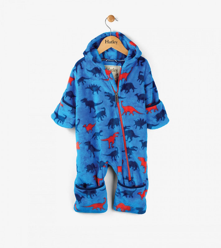 Hatley Baby boy Dinosaur Shapes Fuzzy Fleece Mini Bundlers