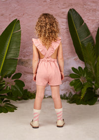 Rock Your Kid Pink Rose Romper
