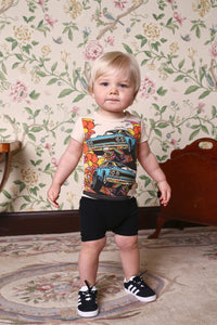 Rock Your Baby Burn Rubber SS Playsuit