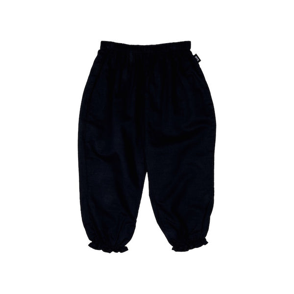 Rock Your Kid Harem Linen Pants-Black