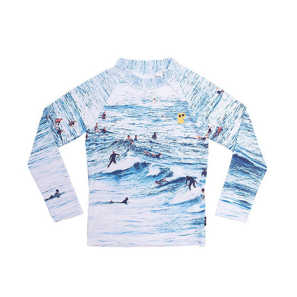 Rock Your Kid Ocean Break LS Rashie