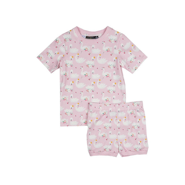Rock Your Kid Swans SS PJ Set