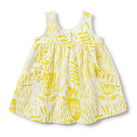 Wilson & Frenchy Mellow Yellow Ruffle Pocket Dress