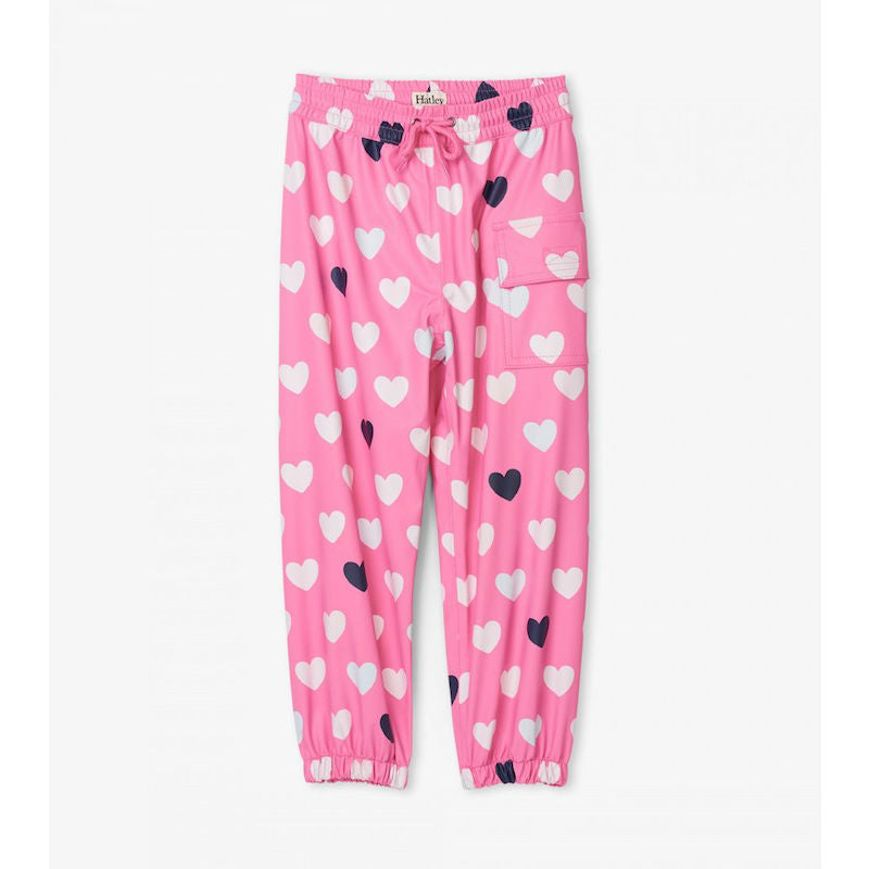 Hatley Colour Changing Lovely Hearts Splash Pants