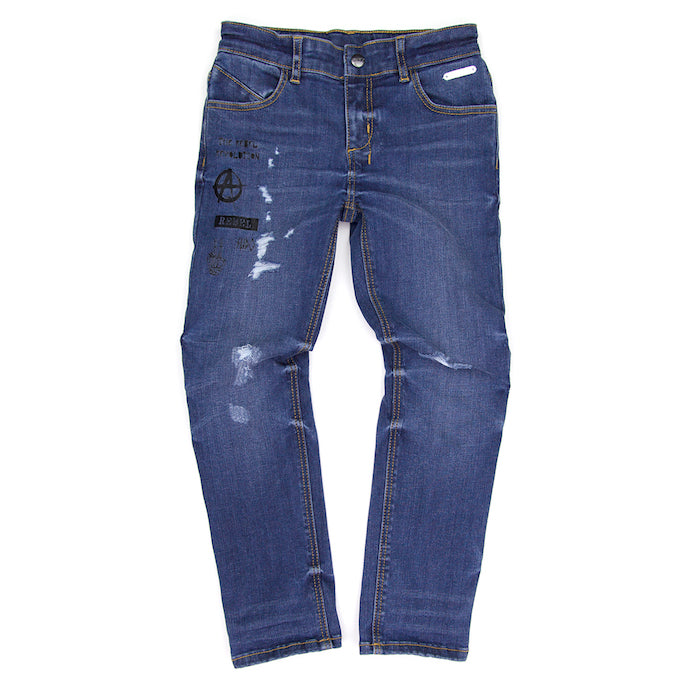 Sudo Icon Jean-Ripped Blue