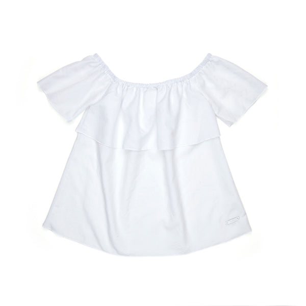 Sudo Isla Off Shoulder Top - Crisp White