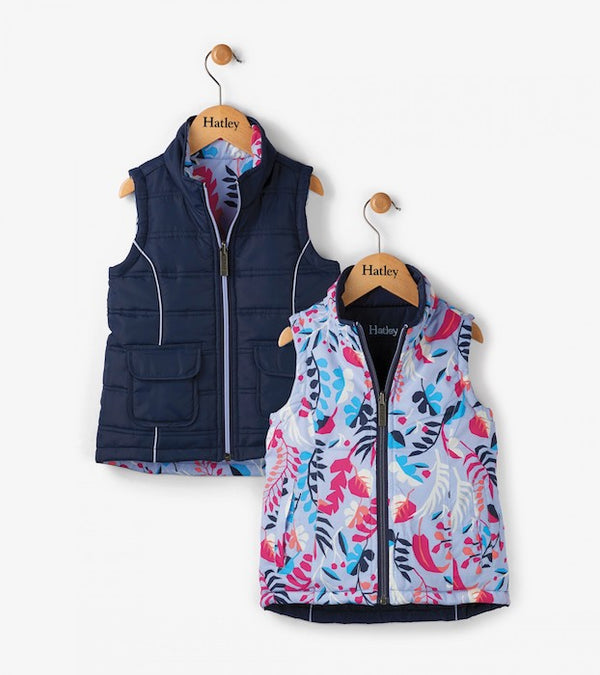 Hatley Navy Fronds Reversible Vest